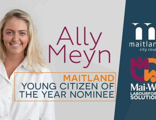 Congratulations Ally! Maitland Young Citizen of the Year Nominee