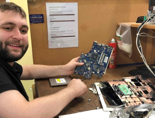 Andy's levelling up his IT skills with work experience